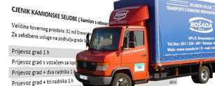 Cjenik kamionske selidbe